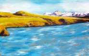 """Slice of Iceland"" 49x32"" framed. $900"