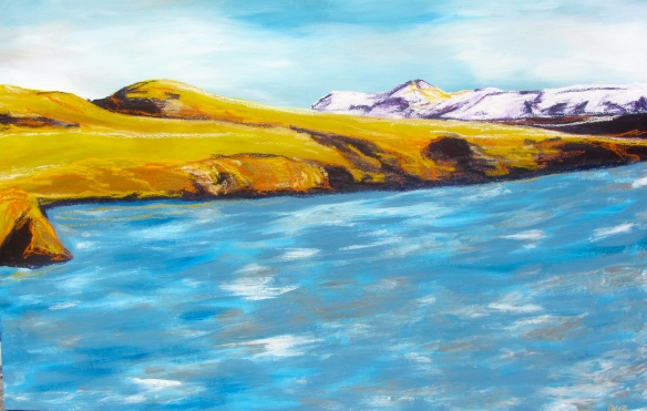 """Slice of Iceland"" 49x32"" framed.  $735"